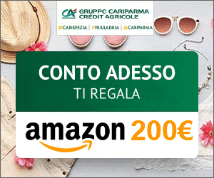 Apri il conto Cariparma. In regalo per te un buono Amazon.it da 200€!